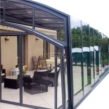 Sun House Policarbonato Sunroom con tetto retrattile