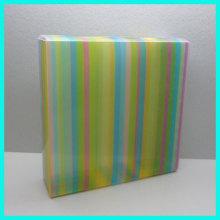 High quality custom stripe service rectangle soft crease storage folding plastic box gift