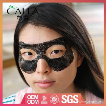 Masque professionnel pour les yeux en dentelle noire avec certificat