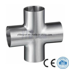 Polished Sanitary Stainless Steel Butt Welded Cross