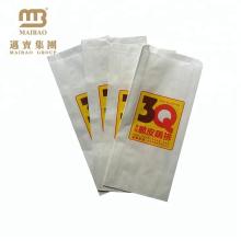 Saco de papel feito sob encomenda à prova de graxa do frango frito do empacotamento de fast food para o alimento fritado