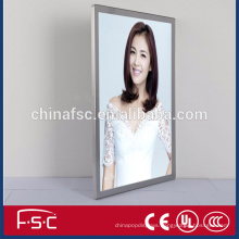 Novelty wall hanging slim acylic led magnetic light box from factory