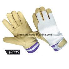 Promotional Pigskin Leather Mechanics Working Safe Full Finger Glove