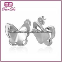 Vente en gros divers Lovely Butterfly Bear Owl Forme en acier inoxydable pour les boucles d'oreilles pour garçons Accessoires pour bijoux de mode