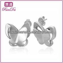 Wholesale various Lovely butterfly bear owl shape stainless steel for boy's girl's stud earrings fashion jewellery accesories