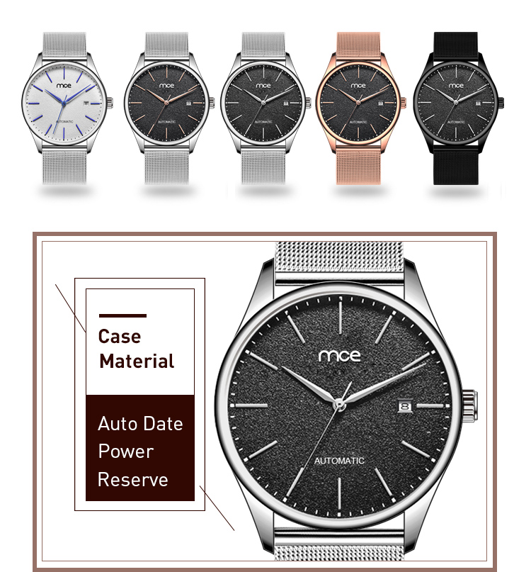 mens fashion minimalist custom logo watch