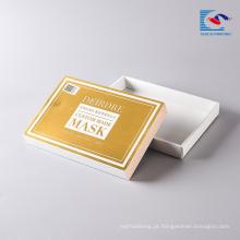Caixa de embalagem de máscara facial de papel superior e base de cosméticos