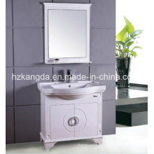 Armário de banheiro de madeira maciça / vaidade de banheiro de madeira maciça (KD-428)