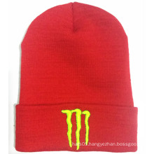 3D High Quality Embroidered Stripe Edge Beanie (S-1069)