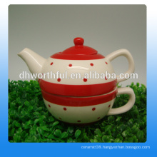 Excellent bulk ceramic teapot and teacup in fashionable design