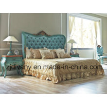 Pos-moderna cama de madera Queen (1404)