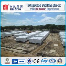 Precio de casas de contenedor plano de China con carga de nieve alta