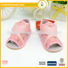 hot sale high quality lovely canvas cloth and pu upper baby girl sandals