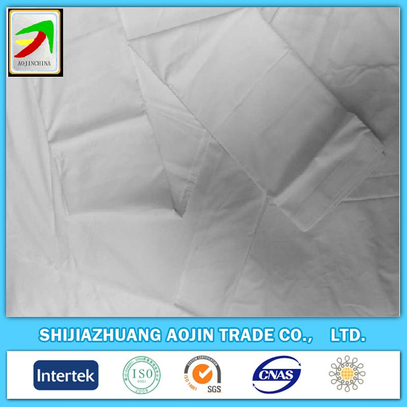 pure cotton unionform bleached white mercerized fabrics