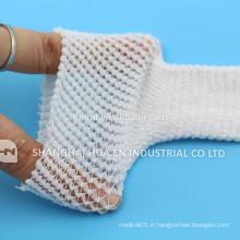 Bandage tubulaire à élasticité élevée sans latex ou plus tard CE ISO FDA