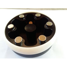 Tinta tampo taza doble hoja con anillo de cerámica para la venta