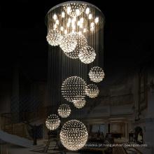 Promoção de fábrica moderna decoração de interiores levou teto montagem embutida luminárias para casa de luxo salão lustre