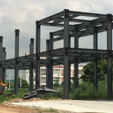 Two Story Steel Structure Workshop Building Construction