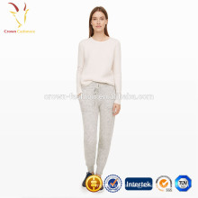 Pantalones de ganchillo de punto estilo casual Lady Wool