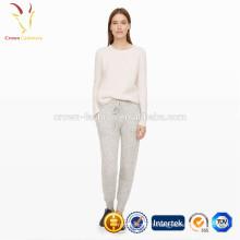 Pantalon en crochet tricoté en laine style décontracté