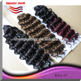 Quality fashion heat resistant synthetic two tone braiding hair