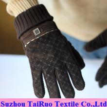 Напечатанный микро-замши с составленным фланель ткань для перчатки