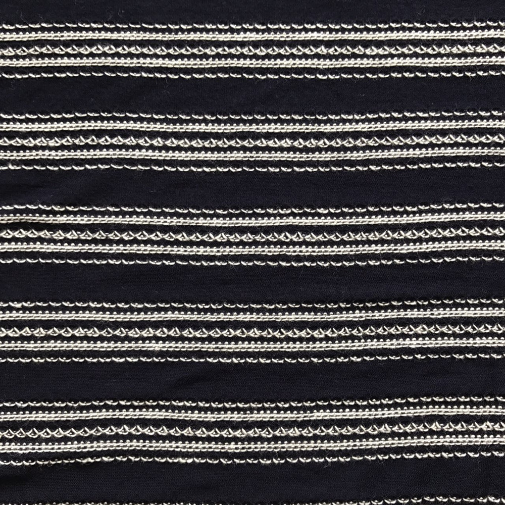 Rayon viscose cotton stripe Jacquard knitting jersey