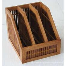 Carpeta de bambú de datos de cuatro cuadrículas