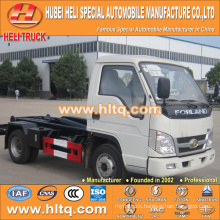 FOTON FORLAND 4x2 4.5CBM LHD hook arm garbage truck 98hp cheap price for sale In China