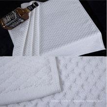 100% coton 32s blanc tapis de bain de couleur