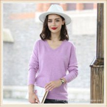 Women′s Fashion Pure Color 100% Cashmere Sweater