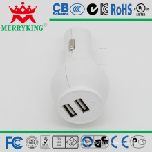 Car Chargers with Dual USB Ports, 5V/2.1A, for Mobile Devices