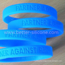 Debossed Elastomer Silicone Rubber Wristband