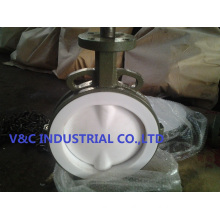 Liner Wafer Butterfly Valve with FEP Seal