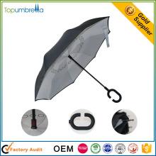 novas invenções à prova de chuva na china guarda-chuva de dobramento reversa na china
