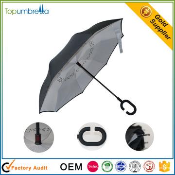Malásia venda quente de cabeça para baixo dupla camada invertida guarda-chuva invertido
