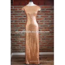2016 élégante or sequin Top longues robes de soirée pour femmes Maxi Dress To Party