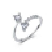 Anillo de triángulo de plata de ley 925 de la muchacha dulce regalo de la joyería