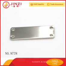 Nickel Farbe shinny Zink-Legierung Metall leer Tag