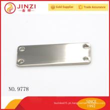 Níquel cor shinny liga de zinco metal etiqueta em branco