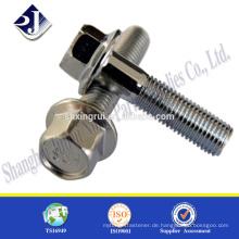 Hohe Festigkeit in China Flansch Schraube A2-80 Sechskant-Flansch Schraube Edelstahl Flansch Schrauben