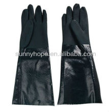 sandy PVC dipped gloves