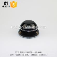 2017 nouveau style 30 ml visage crème conteneur noir en plastique pot acrylique