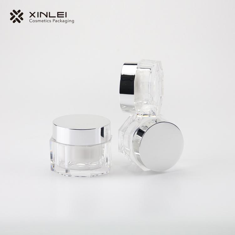 Octangle Shape Cosmetics Acrylic Jar
