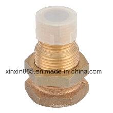 Bronze Nippel für Wasserzähler