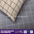 wholesale 100% cotton grid printing comforter sets bedding