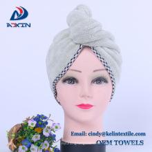 "10x27 ""Grau Spa Microfiber Haartrockentuch Wrap Haar Turban"