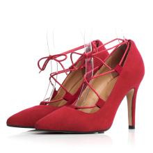 красивый красный женщин свадебные туфли
