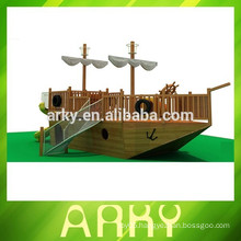 large Sea Boat Outdoor children Wood Playground Equipment