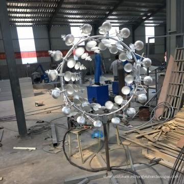 Venta caliente decoración del jardín de acero inoxidable escultura cinética
